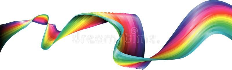 тесемка радуги иллюстрация вектора