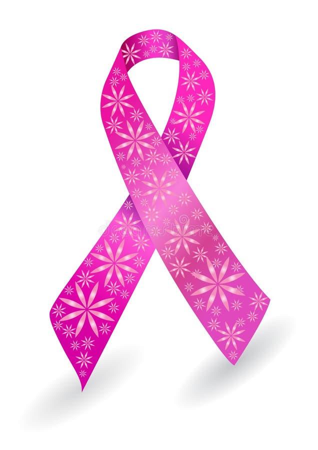 тесемка рака молочной железы розовая иллюстрация вектора