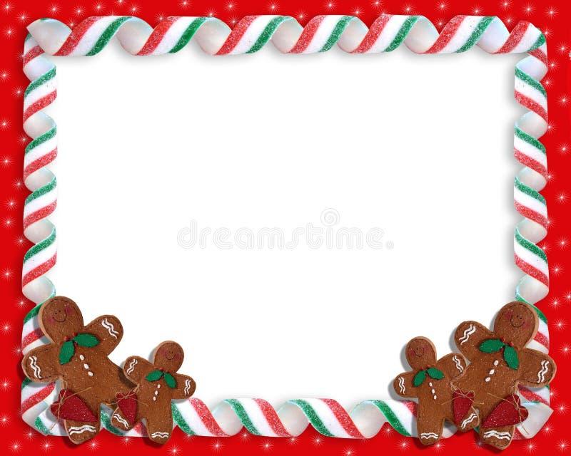 тесемка рамки рождества конфеты бесплатная иллюстрация