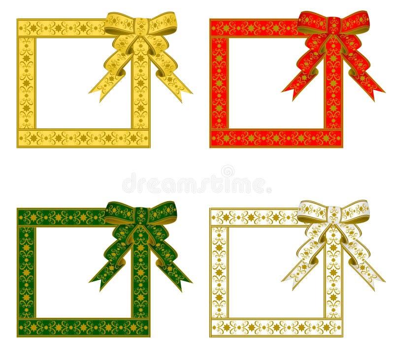 тесемка рамки рождества иллюстрация вектора