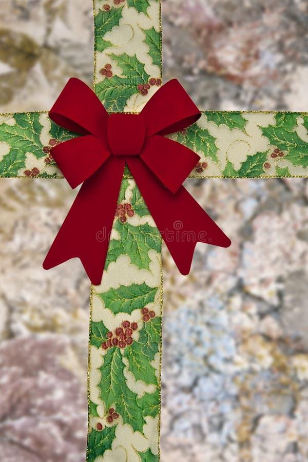 тесемка рождества смычка стоковые изображения rf