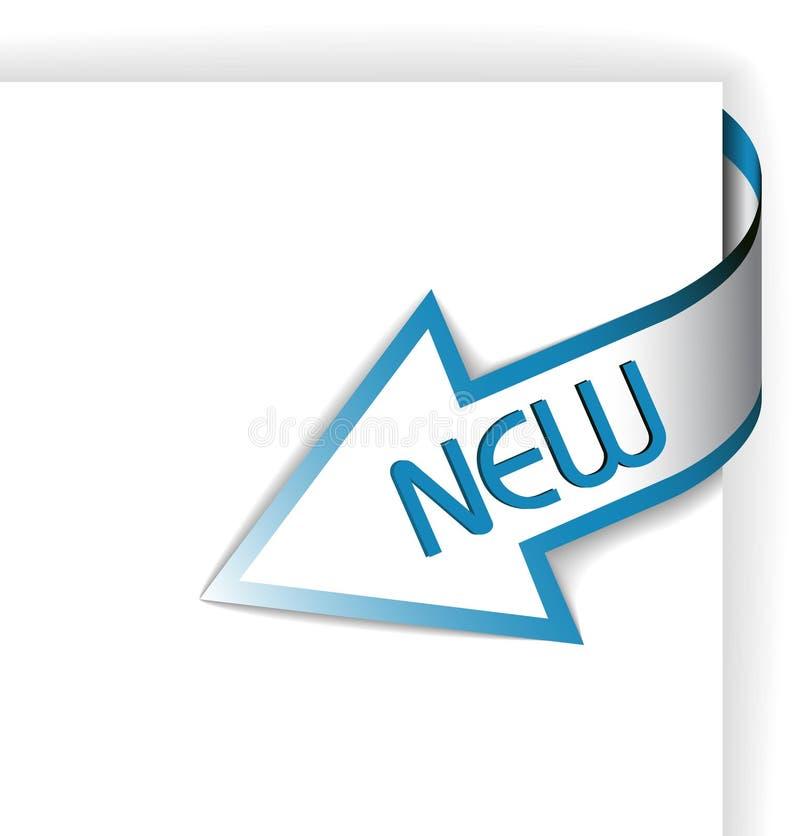 тесемка стрелки голубая угловойая новая бесплатная иллюстрация