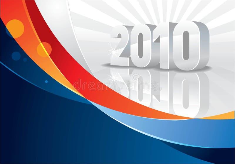 тесемка 2010 календаров иллюстрация вектора