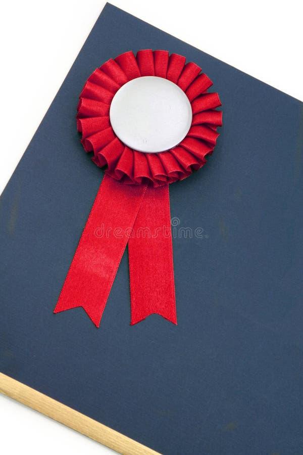 тесемки сертификата значка пожалования стоковые фотографии rf