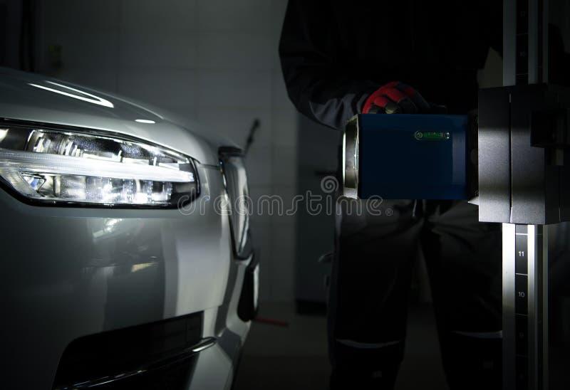 Тестер Aimer фары автомобиля стоковая фотография rf