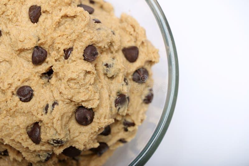 Тесто печенья обломока шоколада стоковое изображение rf