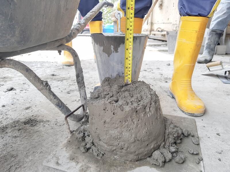 Тестирование бетона как обозначается подвижность бетонной смеси