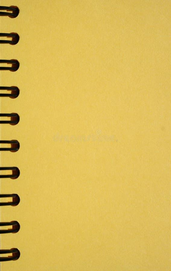 Download тетрадь закручивает в спираль желтый цвет Стоковое Изображение - изображение: 650555