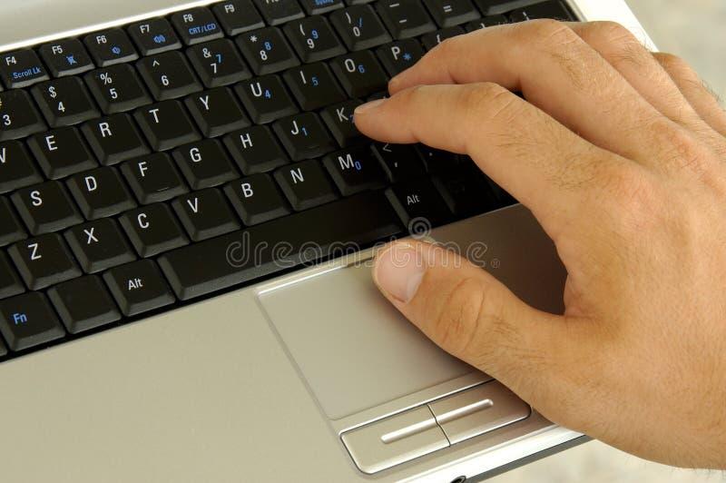 тетрадь клавиатуры Стоковая Фотография RF