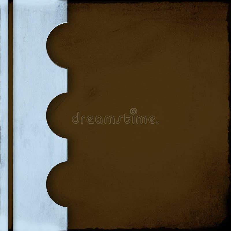 тетрадь крышки голубого коричневого цвета иллюстрация вектора