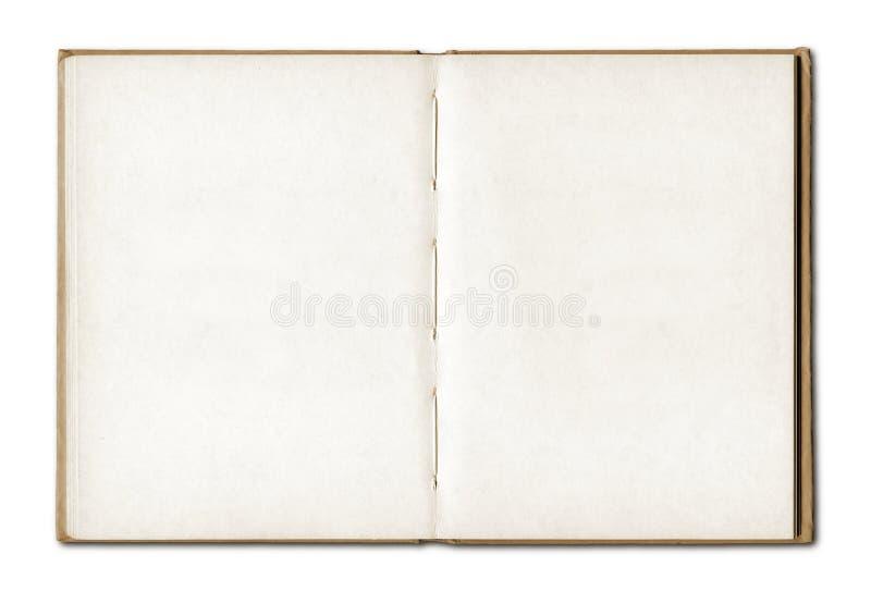 Тетрадь винтажного пробела открытая стоковое изображение