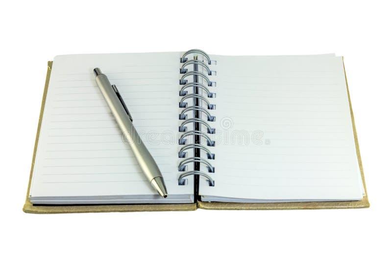 Тетрадь и ручка стоковое изображение rf