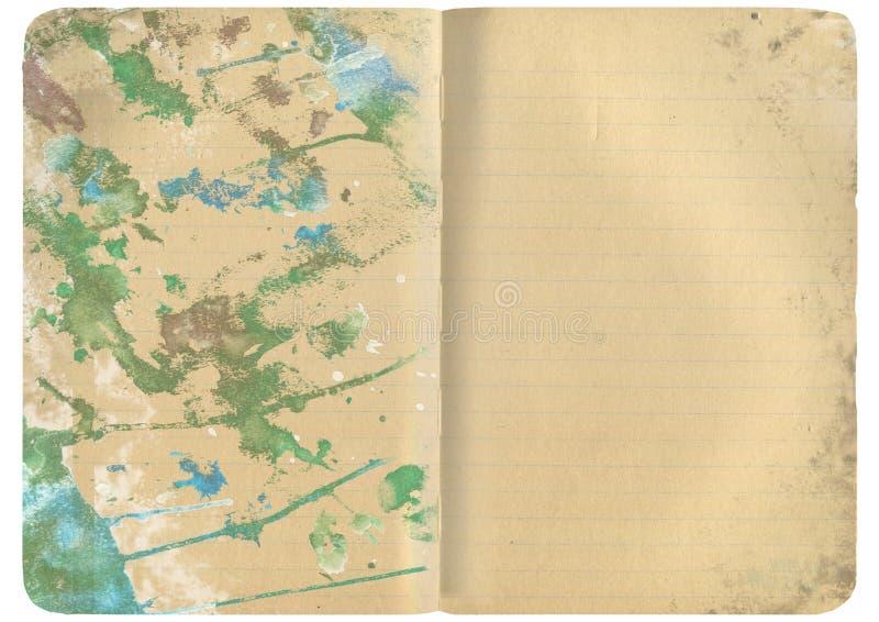 Тетрадь с выплеском стоковое изображение rf