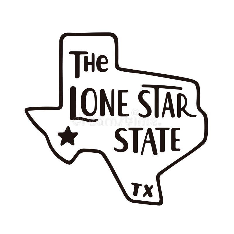 Техас, уединенное государство звезды бесплатная иллюстрация