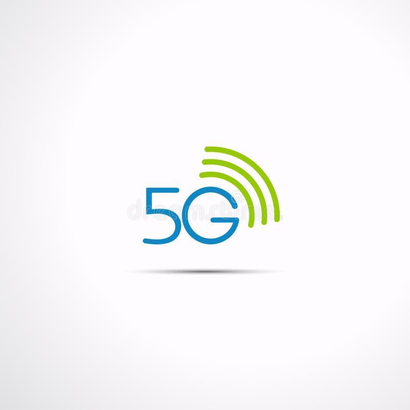 техника связи значка 5G, иллюстрация вектора бесплатная иллюстрация
