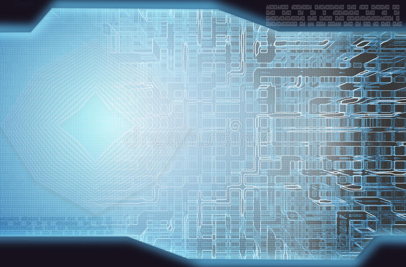 техник высокого типа предпосылки абстракции голубой стоковая фотография rf