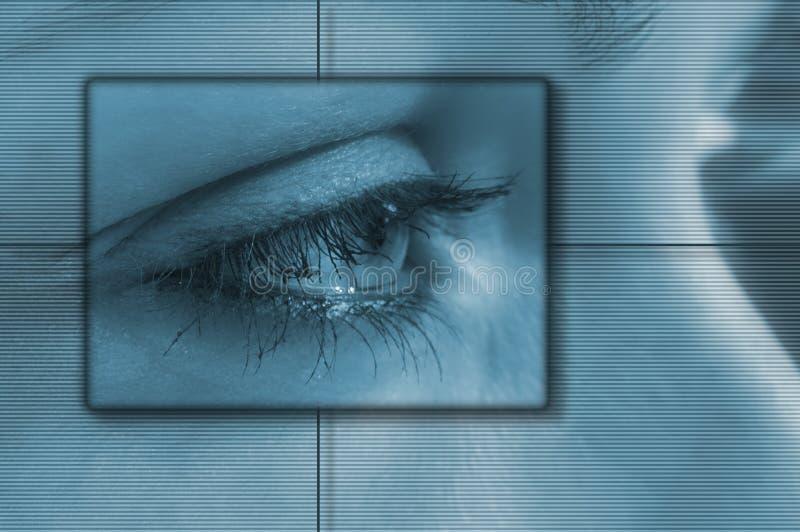 техник глаза иллюстрация вектора