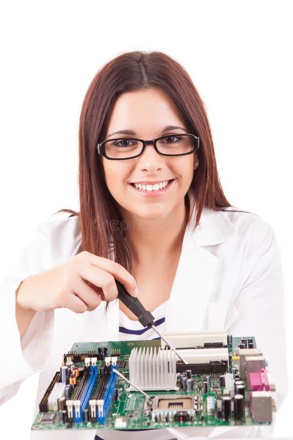 Техник компьютера стоковые изображения