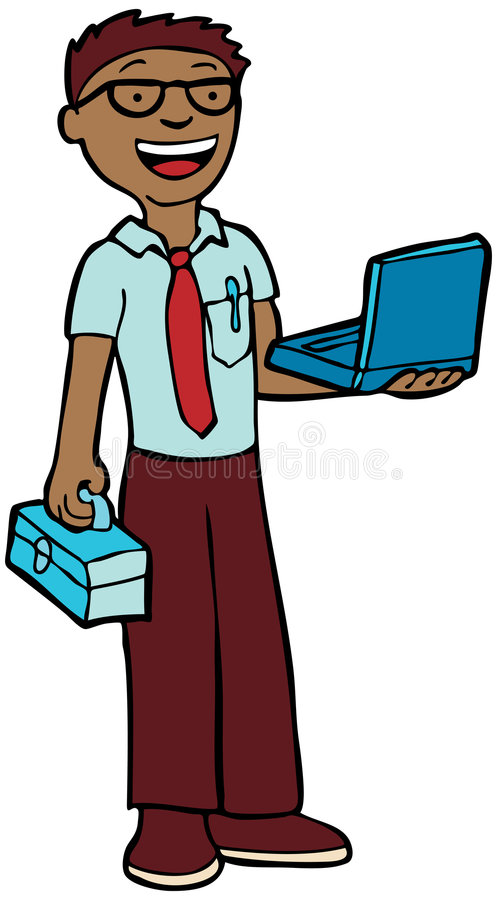 техник компьютера иллюстрация штока