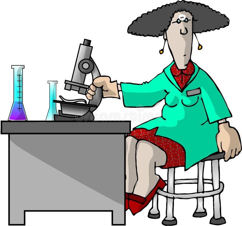 техник лаборатории иллюстрация вектора