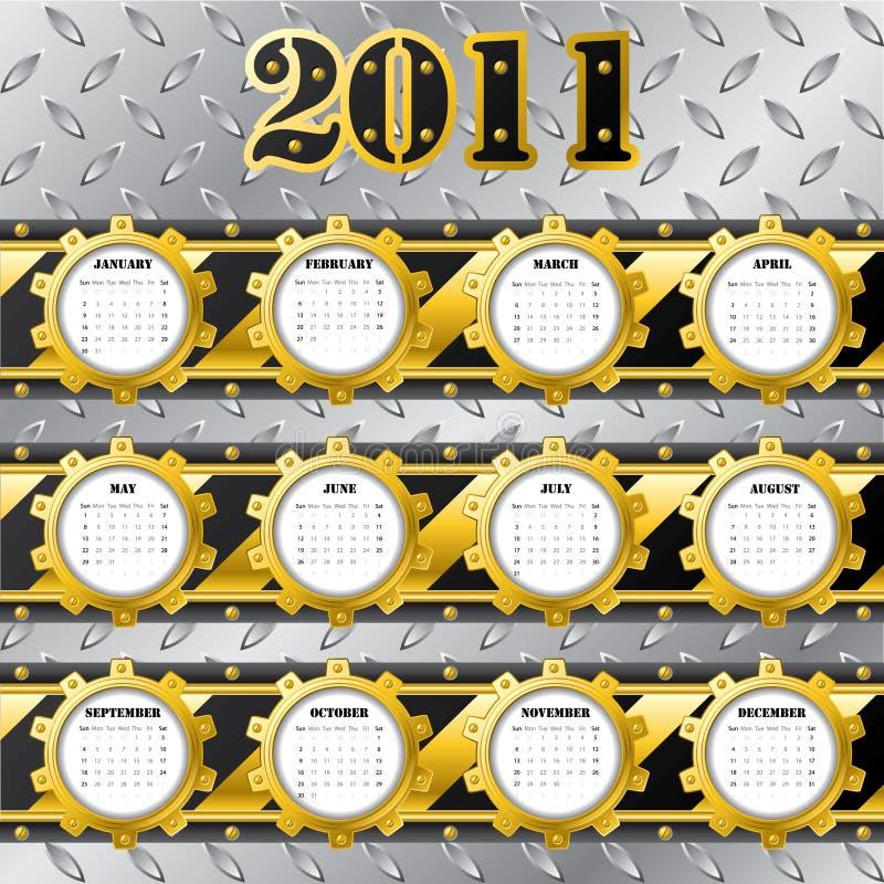 техник 2011 календара иллюстрация штока