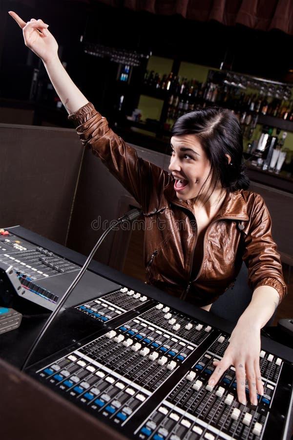 техник soundboard стоковое изображение rf