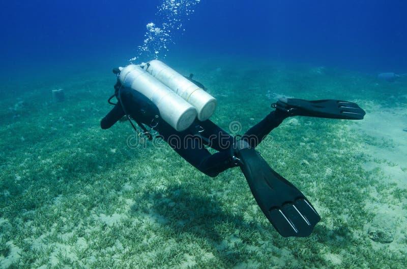 Технический водолаз акваланга стоковая фотография rf