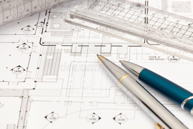 Технический чертеж стоковые изображения