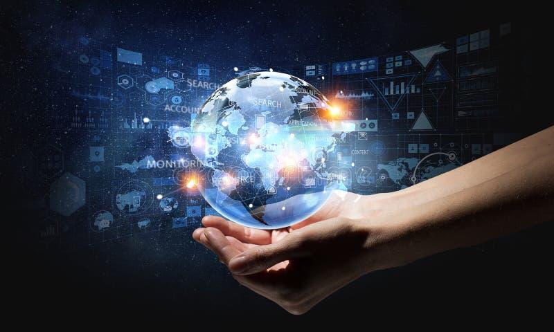 Технологии соединяя мир стоковое изображение rf