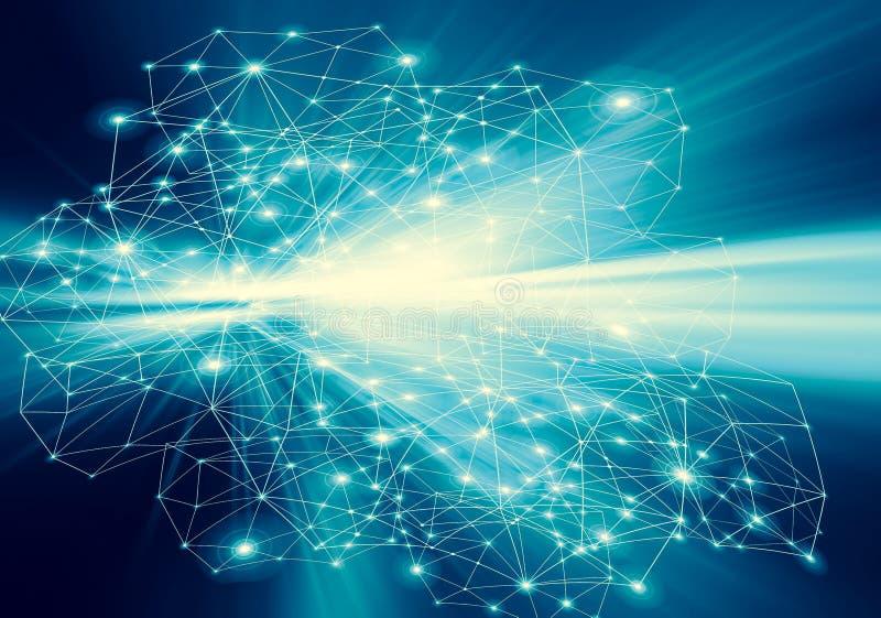 Технологическая предпосылка, концепция интернета глобального бизнеса Интернет-связь, конспект науки и техники бесплатная иллюстрация