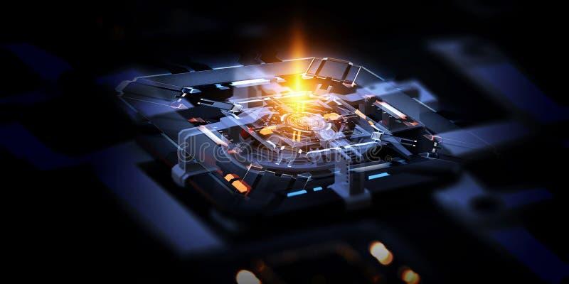 Технологическая промышленная абстрактная предпосылка иллюстрация вектора