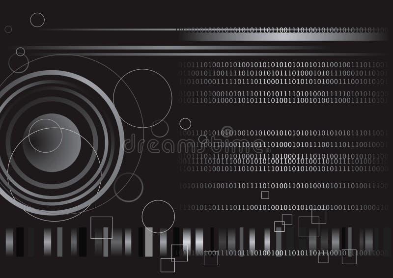 технология бинарного Кода цифровая иллюстрация вектора