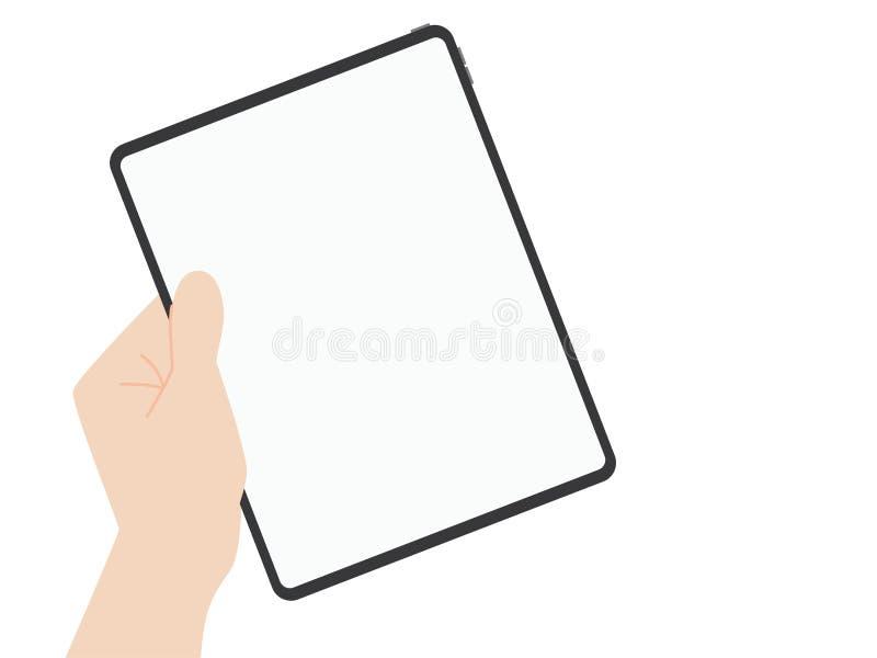 Технология выдвижения дизайна нового сильного планшета задвижки руки новая бесплатная иллюстрация