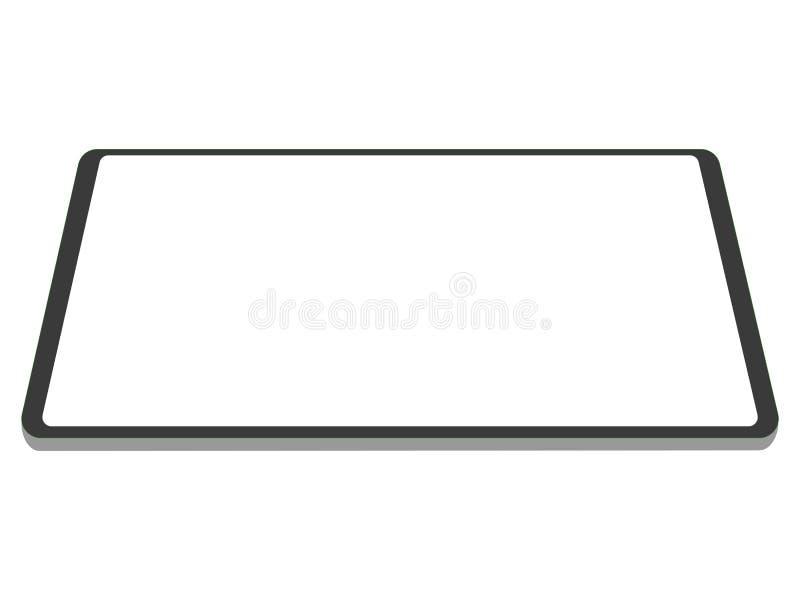 Технология выдвижения дизайна нового сильного планшета новая бесплатная иллюстрация