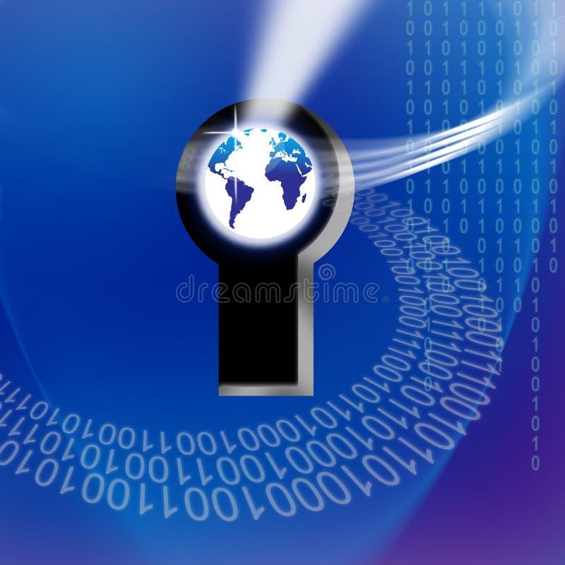 технология гловального ключа информации обеспеченная иллюстрация вектора