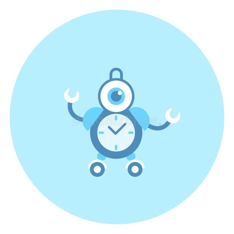 Технология домашнего хозяйства значка будильника робота современная иллюстрация штока
