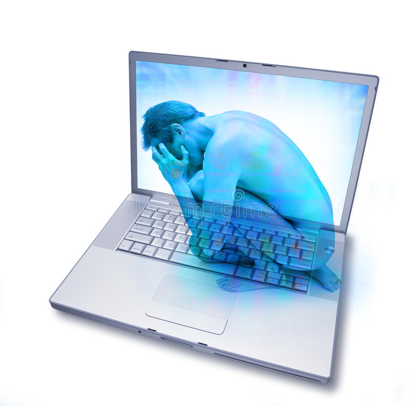 технология интернета компьютера наркомании стоковая фотография