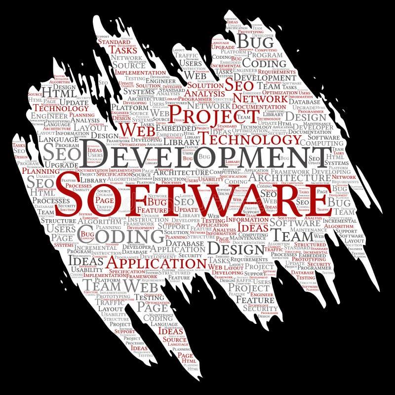 Технология кодирвоания проекта разработки программного обеспечения вектора иллюстрация вектора