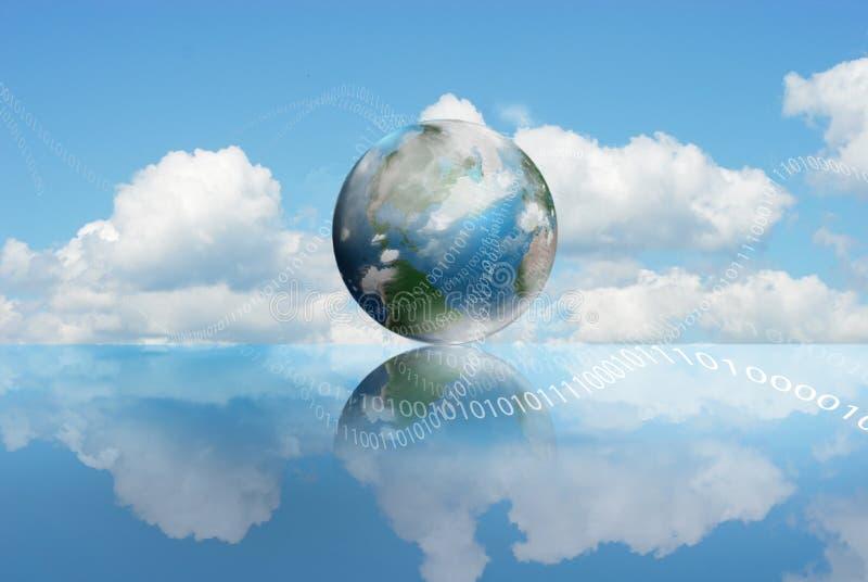 технология облака вычисляя иллюстрация штока
