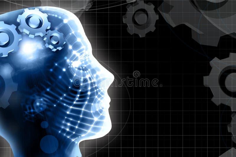 технология предпосылки головная людская бесплатная иллюстрация