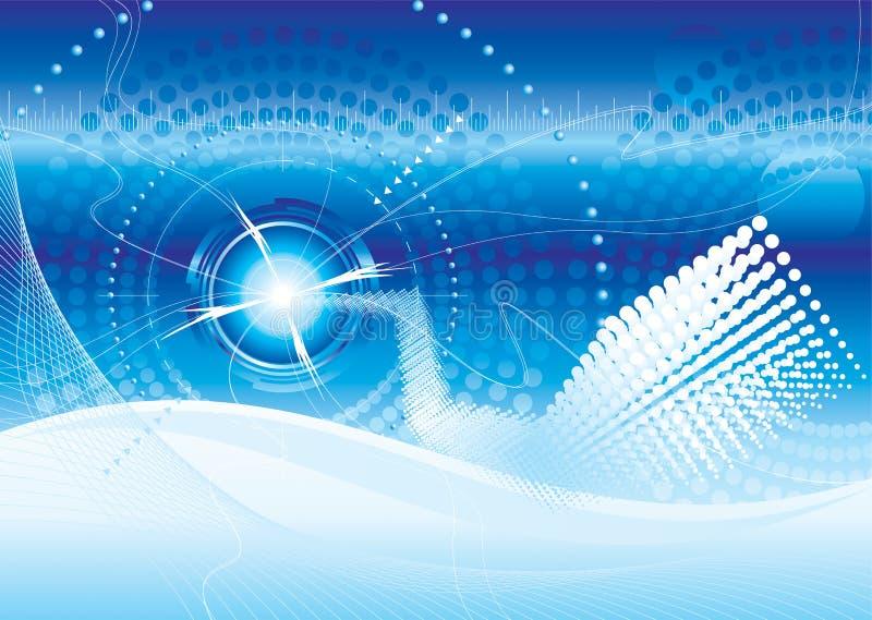 технология предпосылки футуристическая иллюстрация вектора