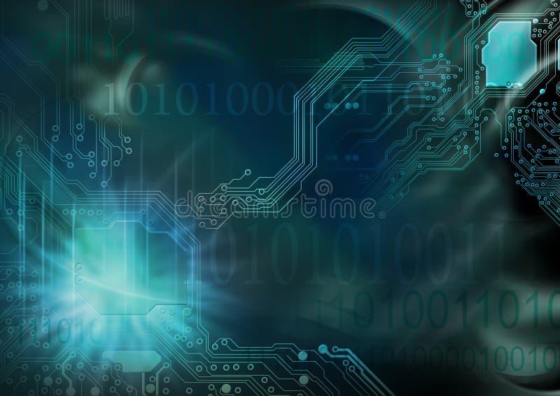технология предпосылки цифровая иллюстрация вектора