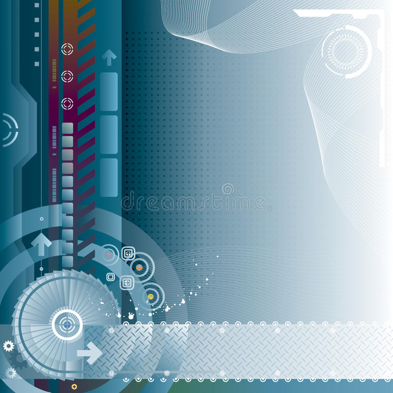 технология предпосылки иллюстрация вектора