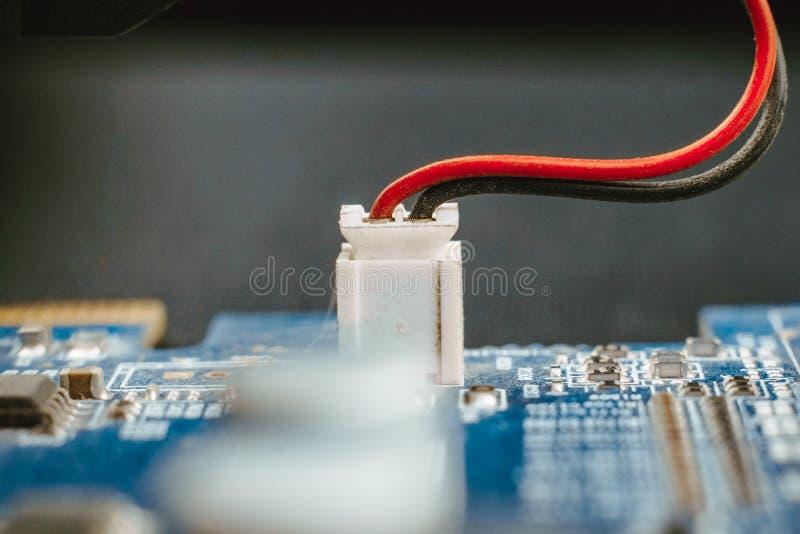 Технология сини ядра C.P.U. цепи обломока доски компьютера стоковая фотография rf