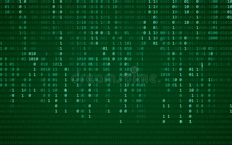 технология теней светов абстрактной предпосылки голубая компьютер бинарного Кода Программирование/концепция кодирвоания/хакера ил бесплатная иллюстрация