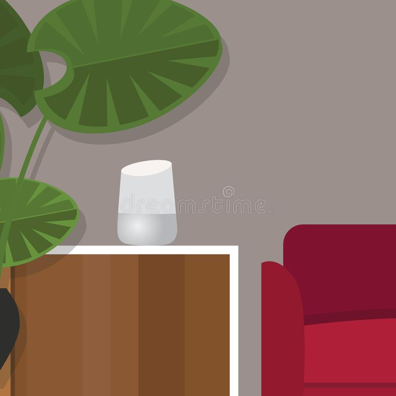 Технология умного домашнего ассистентского разума личная иллюстрация штока
