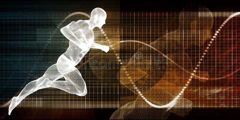 Технология фитнеса иллюстрация штока