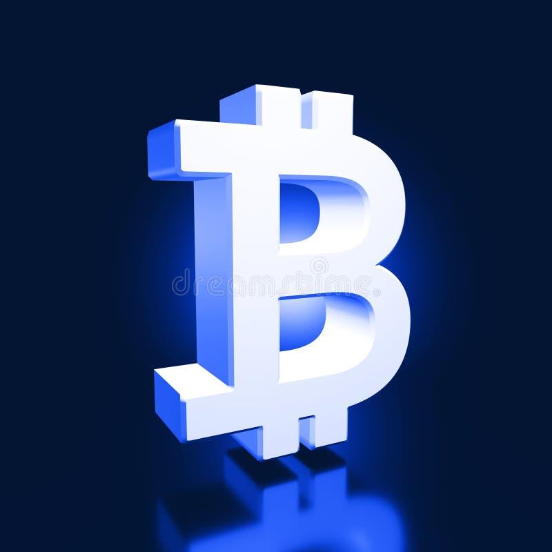 Технология bitcoin символа современная стоковое фото