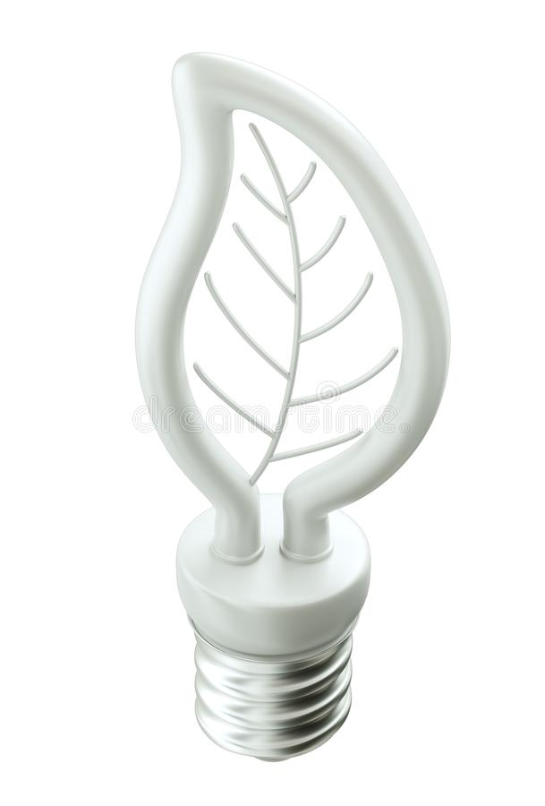 Технология Eco дружелюбная: электрическая лампочка лист или folium бесплатная иллюстрация