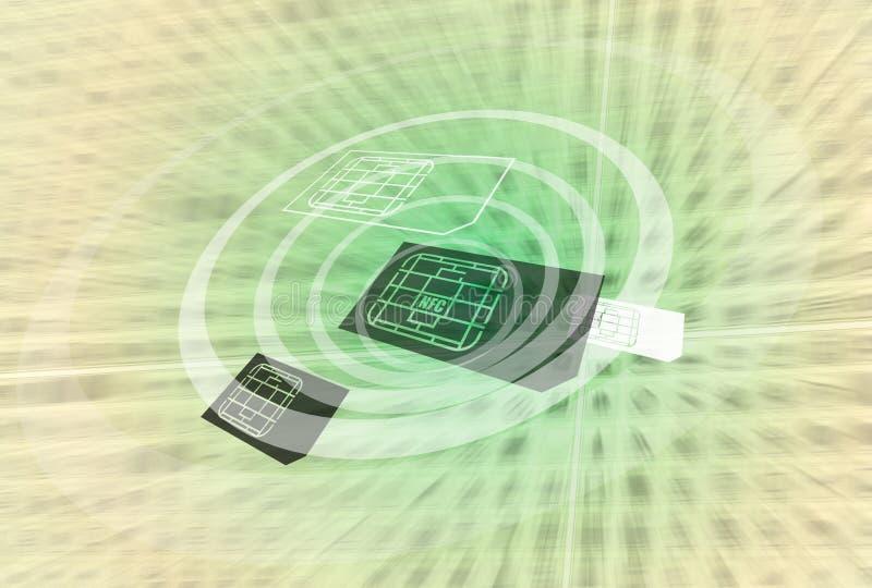 технология nfc иллюстрация вектора